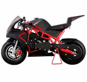 40CC 4-Stroke GAS Pocket Bike MINI Motorcycle EPA, Red
