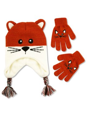 ff7152cfc Product Image ABG Accessories Kitty Critter Hat & Glove Cold Weather Set,  Little Girl, ...