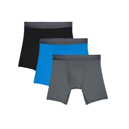 Fruit of the Loom Mens EverLight Go Active Assorted Boxer Briefs, 3 Pack