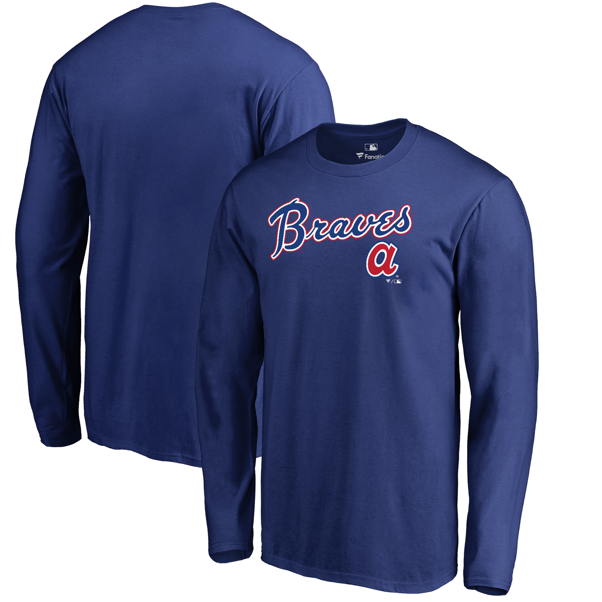 Atlanta Braves Fanatics Branded Cooperstown Collection Wahconah Long Sleeve T-Shirt - Royal
