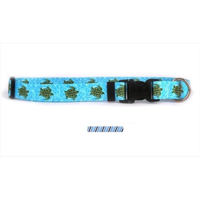 Yellow Dog Design TSBBW100XS Team Spirit Lt.  Blue  Dark Blue and White Standard Collar - Extra Small