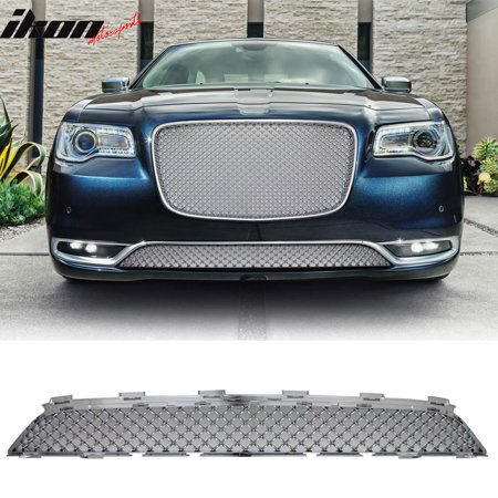 Ikon Motorsports Grille - Fits 15-17 Chrysler 300 300C B Style Front Lower Grill Grille - Chrome