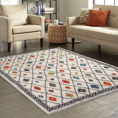 Better Homes And Gardens Bright Global Diamonds Print Area Rugs Or Runner