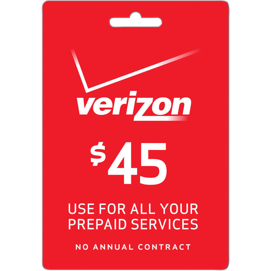 (Email Delivery) Verizon 30 Day Unlimited Talk & Text $45