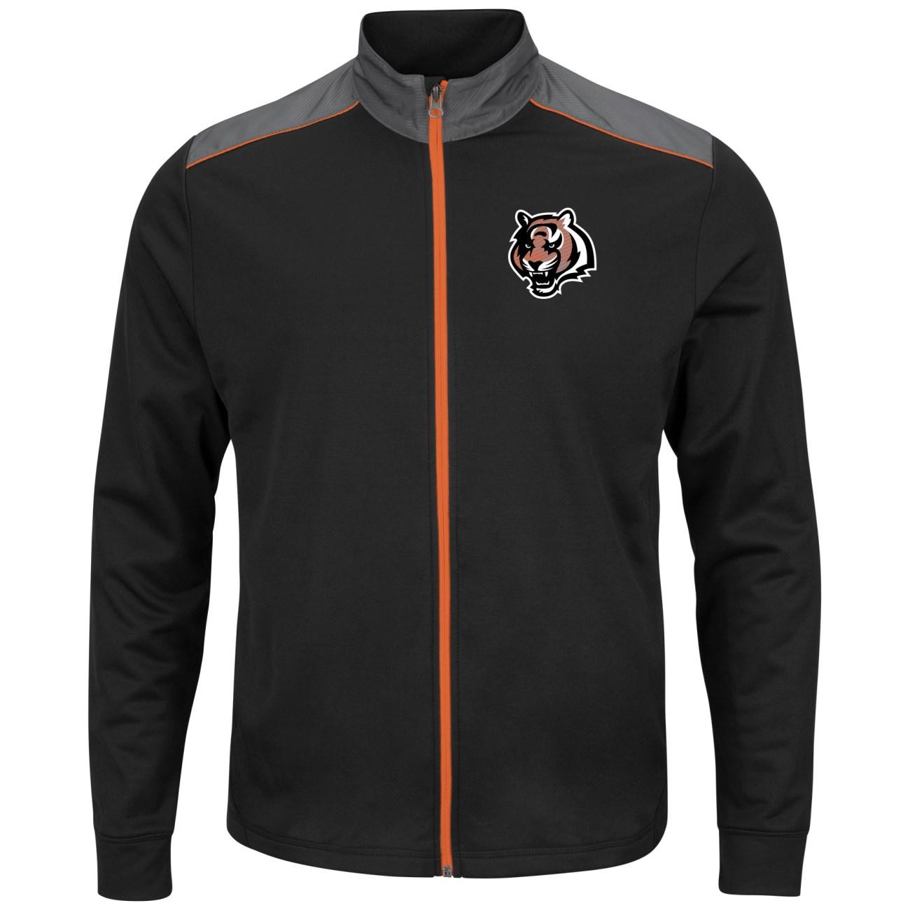 """Cincinnati Bengals Majestic NFL """"Team Tech"""" Men's Full Zip Jacket Sweatshirt by Majestic"""