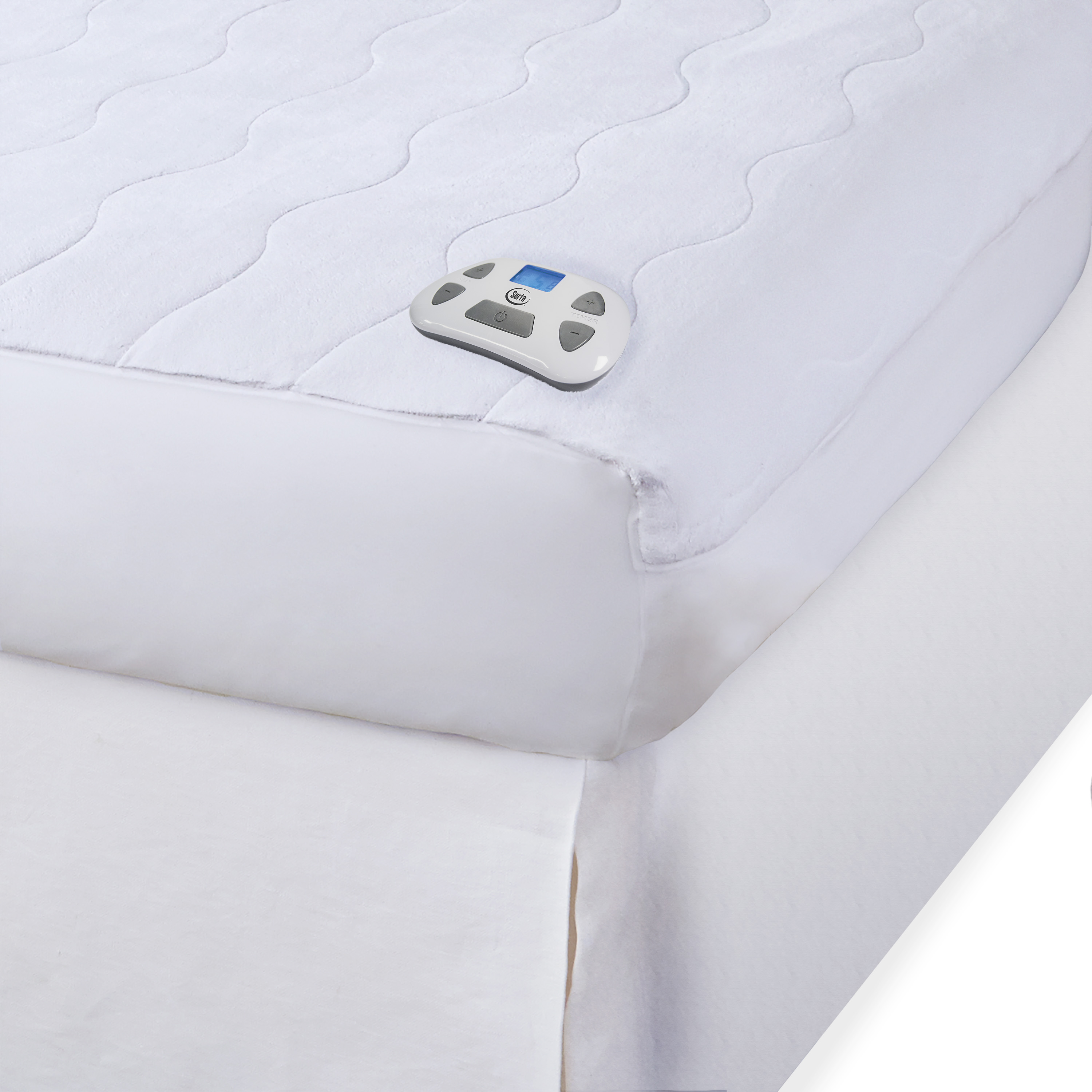 Serta Microplush Electric Heated Mattress pad with programmable digital controller - Walmart.com