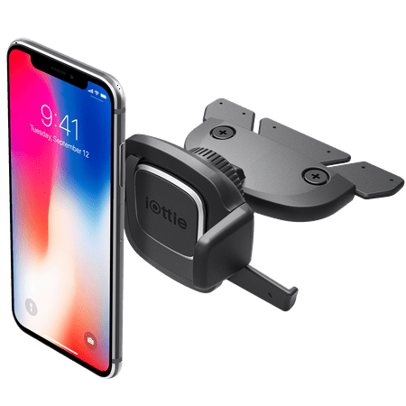 iOttie Easy One Touch 4 CD Slot Car Mount Holder Cradle iPhone X 8/8 Plus 7 7 Plus 6s Plus 6s 6 SE Samsung Galaxy S8 Plus S8 Edge S7 S6 Note 8