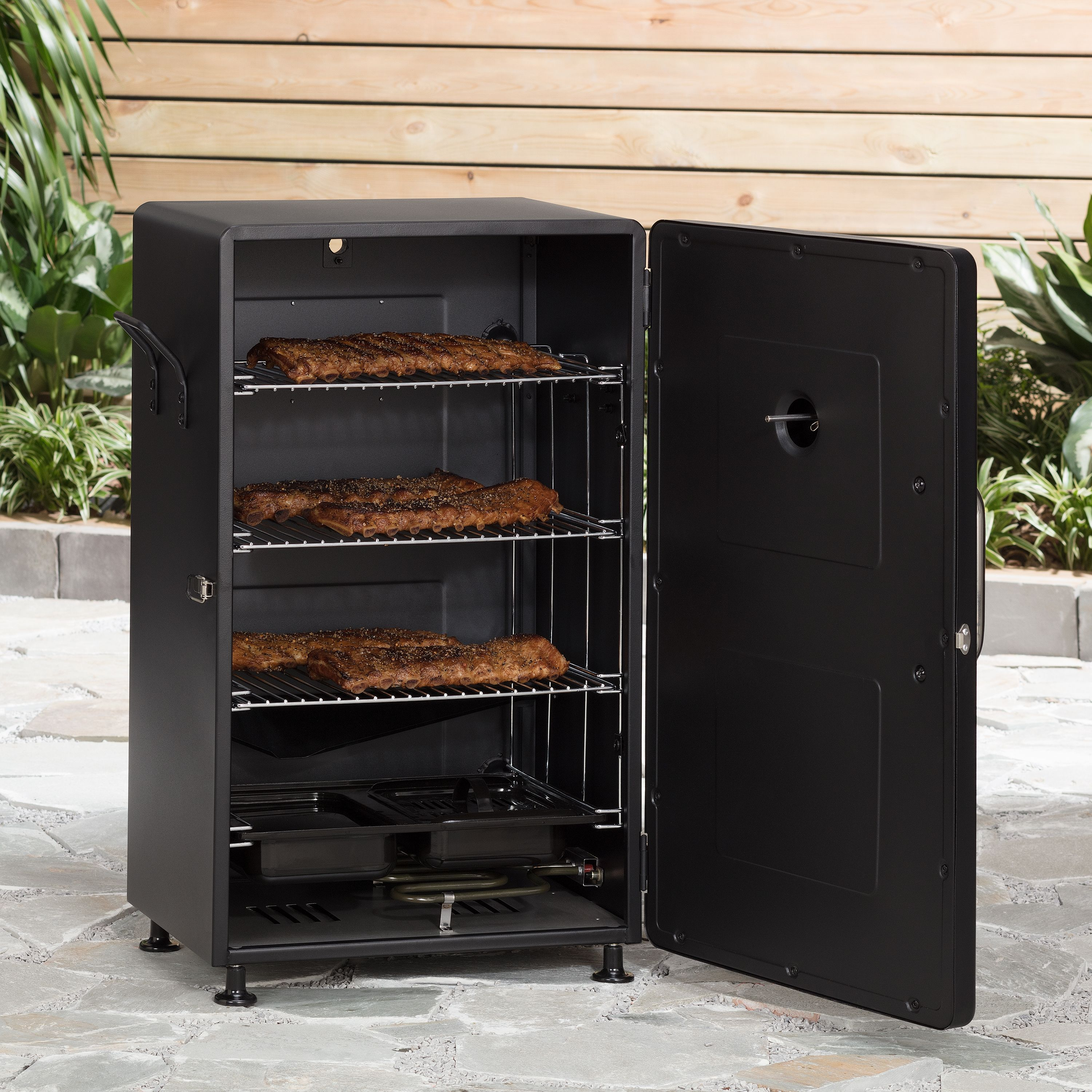Electric Smoker Meat Fish Food Smokey Mountain Barbeque