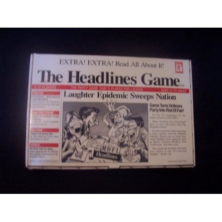 The Headlines Game Box Includes: Category Cards, Letter Cards, Card Tray, Cue Card Holder, Timer, 6 Headline Pads, Tokens And Is For 2 To 12 Players Or Teams Ages 14 And Up.SKU:ADIB0013HPOXC