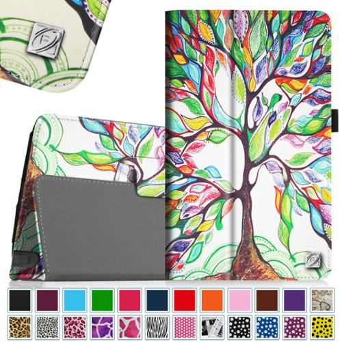 LG G Pad F 8.0 AT&T 4G LTE V495 / T-Mobile V496 / US Cellular UK495 Tablet Case - Fintie Slim Fit Folio Cover, Love Tree