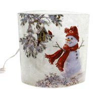 Stony Creek SNOWMAN LIGHTED GLASS VASE Glass Indoor Use Dsb7269 Red