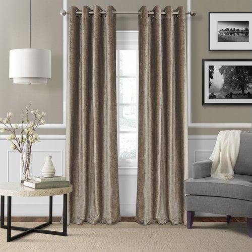 Elrene Home Fashions Victoria Velvet Solid Blackout Thermal Grommet Single Curtain Panel