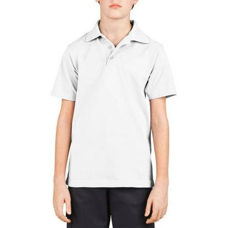(Boy's Short Sleeve Pique Knit Polo Shirt)