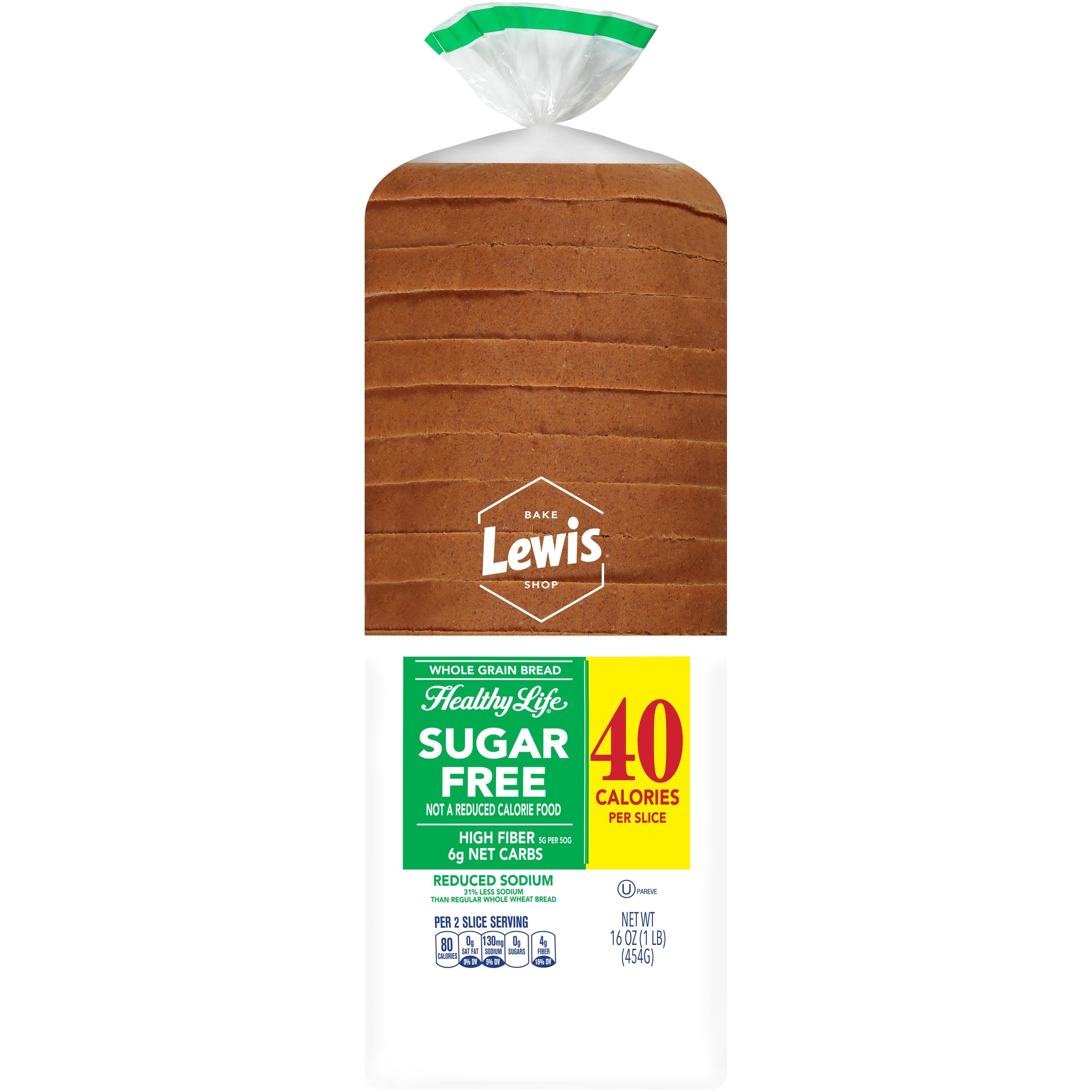 Lewis® Bake Shop Healthy Life® Sugar Free Whole Grain Bread 16 oz. Loaf