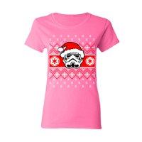 Star Wars Pardoy Santa Darth Vader Women's T-shirt Black Small