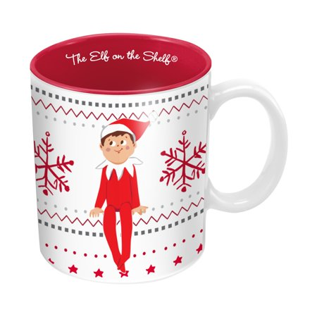 Vandor The Elf On The Shelf Ugly Sweater 20 oz ceramic Mug, Multicolor