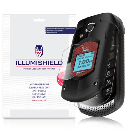 iLLumiShield Screen Protector w Anti-Bubble/Print 3x for Kyocera DuraXV