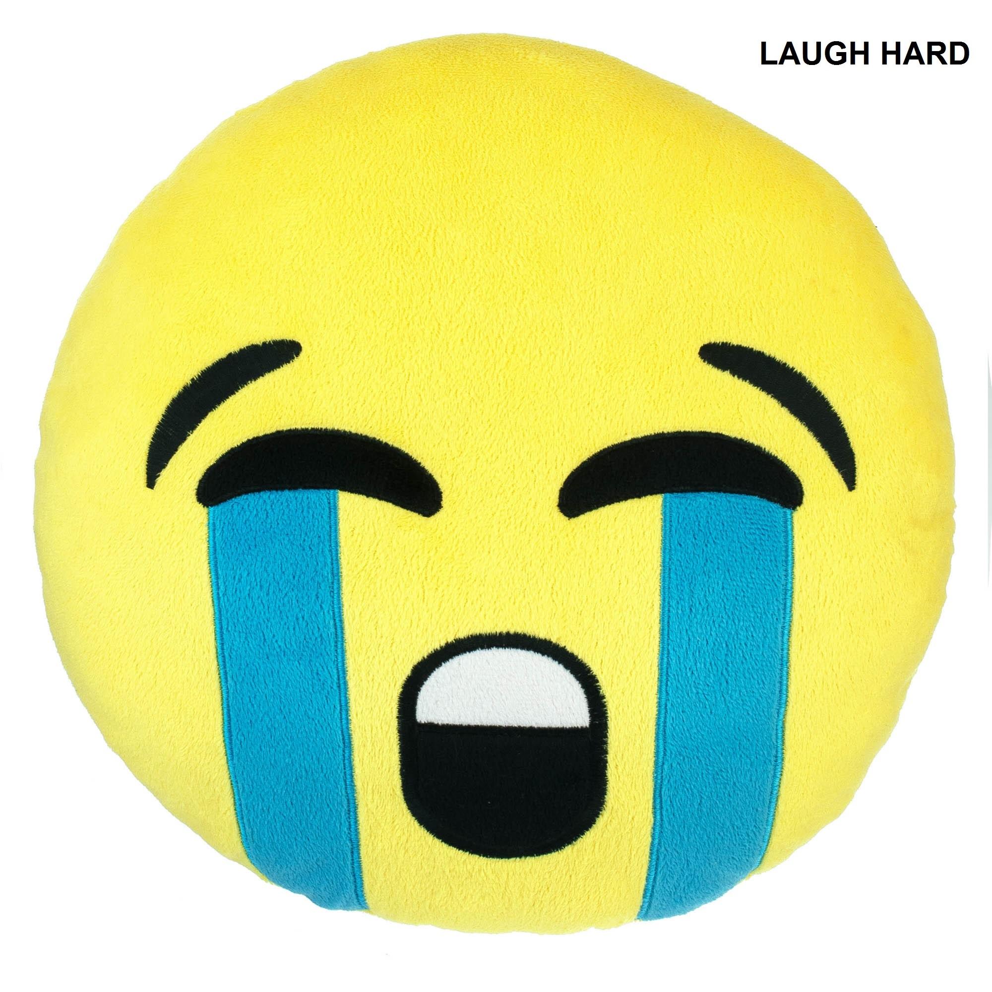 Emoji Laugh Cry Pillow