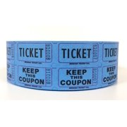 Pink Double Raffle Ticket Roll, 2000 two part tickets with lines for name, address, and phone on back By Century Novelty