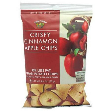 Good Health Apple Chips, Crispy Cinnamon, 12