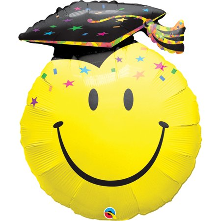 Qualatex Smile Emoticon Face Party Grad 36