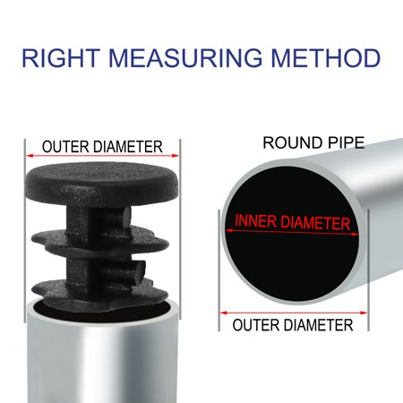 "1/2"" 0.5"" OD Plastic Tube Inserts Pipe 4pcs 0.35""-0.43"" Inner Dia Desk Leg Caps - image 4 of 7"