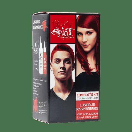 f0d43141269 Splat 30 Wash Semi-Permanent Hair Dye Kit Luscious Raspberries - Walmart.com
