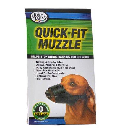 - Four Paws Quick Fit Muzzle Size 0 - Fits 4.5 Snout - Pack of 12