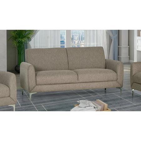 Best Master Furniture Damian Fabric Sofa, Wheat