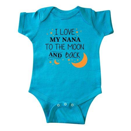 I Love My Nana To The Moon and Back Infant Creeper - I Love My Bff