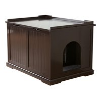 TRIXIE Pet Products XL Wooden Litter Box Enclosure Espresso