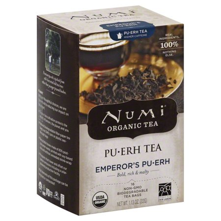 Numi Organic Teas and Teasans, 0.125oz, Emperor's Puerh, 16/Box (Numi Red Tea)