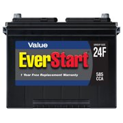 EverStart Value Lead Acid Automotive Battery, Group Size 24F