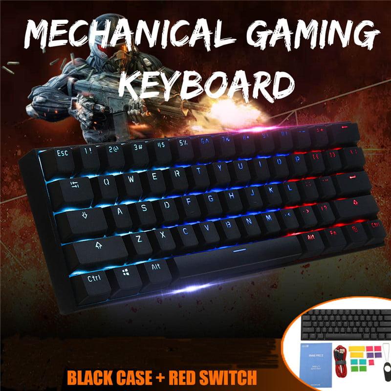 61 Keys Obins ANNE PRO 2 Gateron Brown Switch Colorful Backlight Gaming USB Wired Waterproof Anti-ghosting Mechanical Feeling RGB LED Keyboard