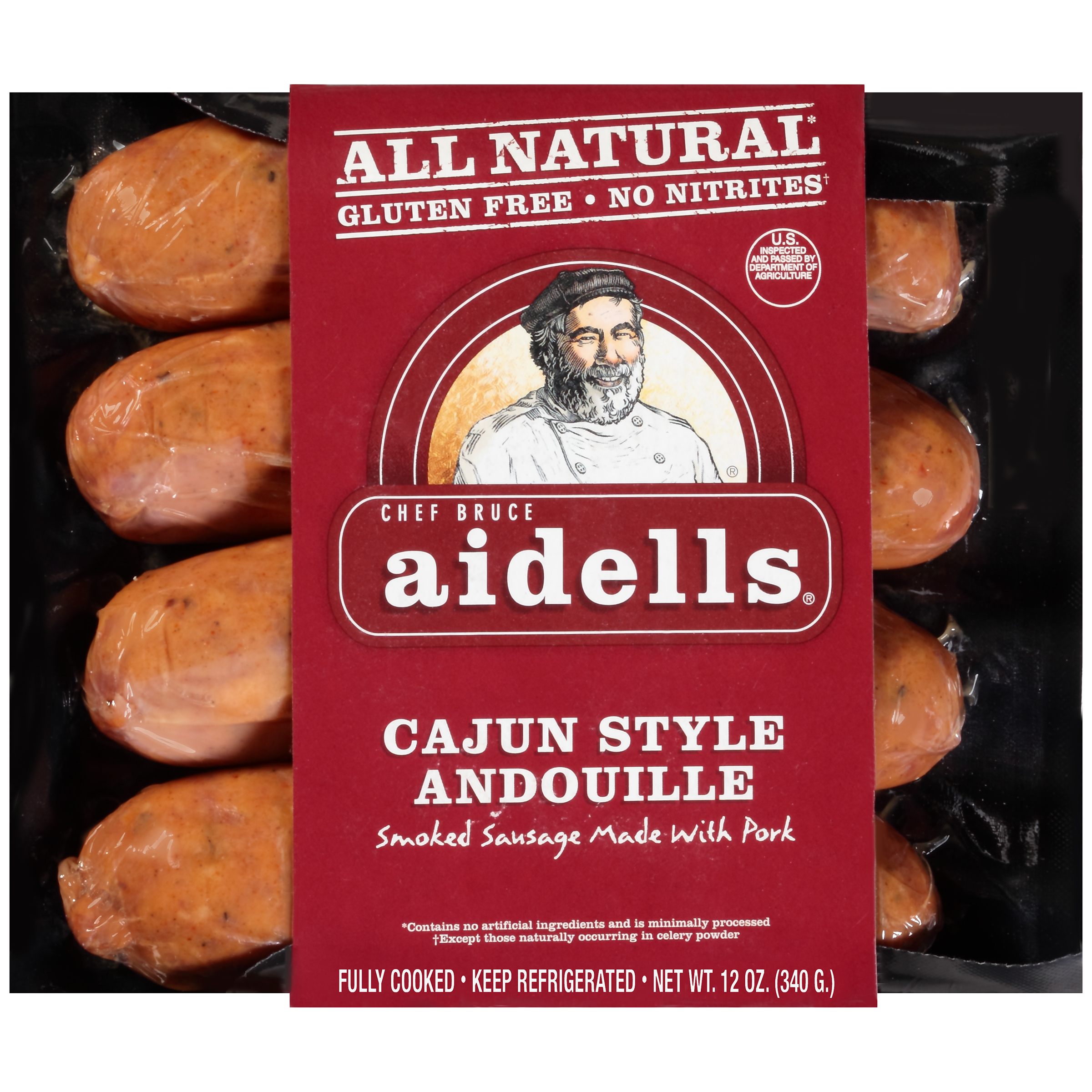 All Natural Cajun Style Andouille Smoked Sausage Made With Pork
