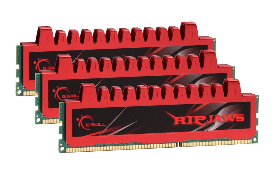12GB G.Skill DDR3 PC3-12800 1600MHz Ripjaw Series (9-9-9-24) Triple Channel kit 3x4GB