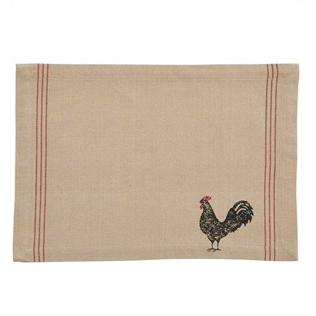 Hen Pecked Rooster Placemat Set of 4 Rooster Table Mat, 13
