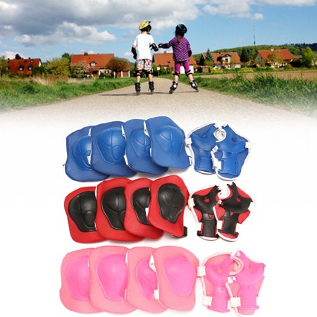 Children Skating Knee Elbow Waist Protectors,Protective Gear Pads Set Support Brace Guards ,For Kid's Safety And (Force Knee Guard)