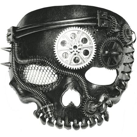 Steampunk Skeleton Mask Adult Halloween Accessory (Latex Skeleton)