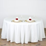 """108"""" Round Polyester Tablecloth for Kitchen, Dining, Catering, Wedding, Birthday, Party Decorations, Events by Efavormart"""