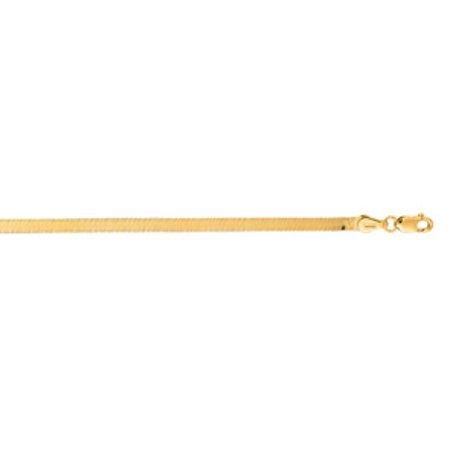 14 Karat Yellow Gold 3.0mm 16 Inch Imperial Herringbone Chain Necklace