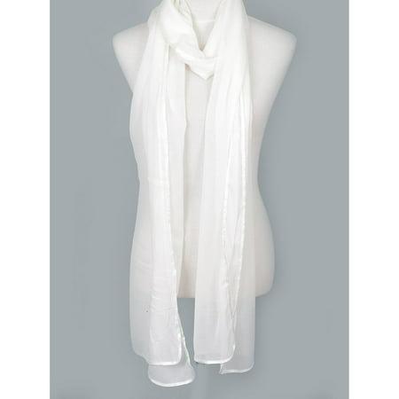 - Zodaca Fashion Women Ladies Lightweight Elegant Extra Long Chiffon Scarf for Women