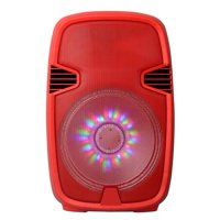 """15"""" Portable Bluetooth DJ Speaker with Stand"""