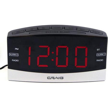 craig electronics 1 8 dual alarm clock digital pll am fm. Black Bedroom Furniture Sets. Home Design Ideas
