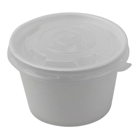 100 Count Deli Containers Durable Food Storage Containers with Lids, Hot and Cold Disposable Containers Use for Frozen Desserts, Soups, or Any Food of Your Choice (8oz)