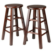 """Winsome Wood Pacey 24"""" Counter Stools, Set of 2, Walnut"""