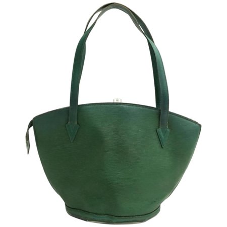 Louis Vuitton Green Epi Borneo Saint Jacques Zip Tote 234064