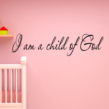 VWAQ I Am a Child of God Inspirational Wall Art Quote Nursery Decals Home Decor Saying ()