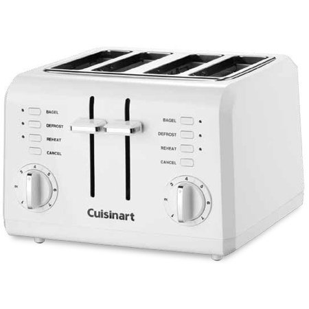 Cuisinart 4 Slice Compact Plastic Toaster, White by Cuisinart