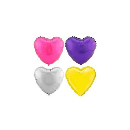Anagram Standard Metallic Heart Shape Mylar 18